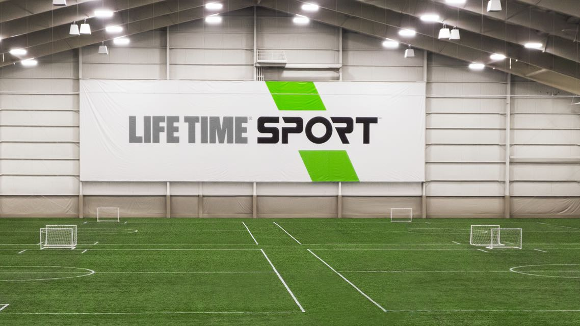 Indoor soccer fields at the Life Time Sport at Winter Park