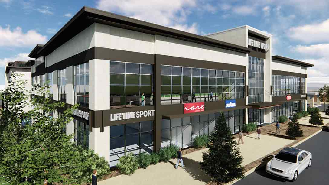 The exterior of the Life Time Sport at Southdale