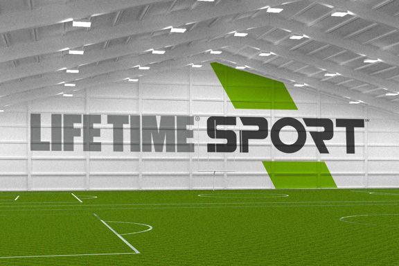 Inside view of Life Time Sport facility