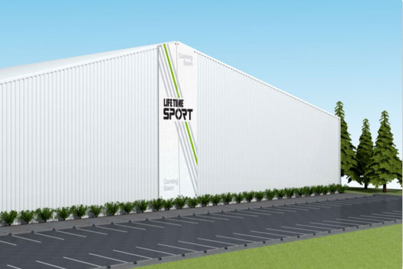 Outside view of Life Time Sport facility