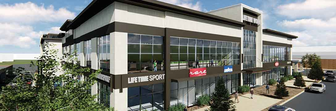 Outside view of Life Time athletic club