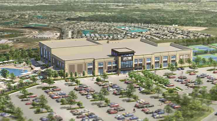 The exterior of the Life Time Sport Frisco